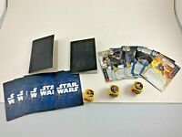 LOT OF 15 MISCELLANEOUS STAR WARS DESTINY (?) CARDS & THREE MISCELLANEOUS DICE