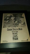 Crosby, Stills, And Nash War Games Rare Original Promo Poster Ad Framed!