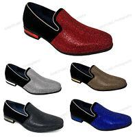 Men's Dress Shoes Glitter Tuxedo Loafer Fashion Slip On Formal Stage Rhinestone