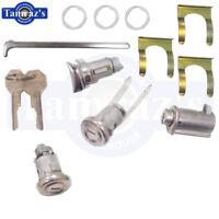 "55-57 Bel Air Ignition Door Glove Trunk Lock Kit Original Octagon Style ""U"" Pawl"