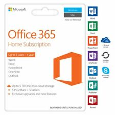 Microsoft Office 365 Home 5 Device 12 Months Card
