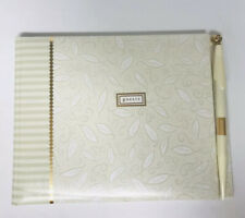 "Hallmark ""Guests"" Wedding Guest Book Cream Embossed"