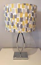 Clarke And Clarke Handmade Lampshade In Sundowner Fabric 20cm Mustard, Grey