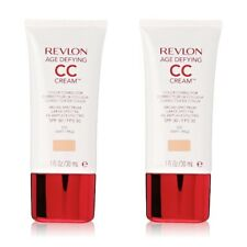 2 x 010 LIGHT Revlon Age Defying Color Corrector CC Cream Makeup