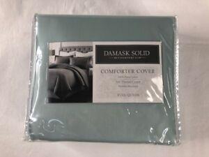 New Charter Club-Damask Solid 500 TC Aquatic Blue Full/Queen Comf/Cover