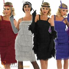 Ladies Charleston Flapper 1920s Fancy Dress Costume Adult Outfit