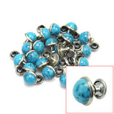 20 pcs Round Blue Turquoise Rapid Rivet Stud Leathercraft Decorations DIY Crafts