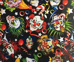 HYDROGRAPHIC FILM WATER TRANSFER PRINTING FILM HYDRO DIP CREEPY CLOWNS 1SQ