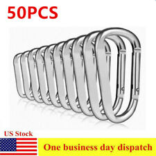 50 PCS Aluminum D-Ring Locking Carabiner Light but Strong USA