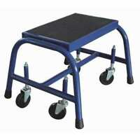 Zoro Select 12M638 1 Step, Steel Step Stand, 300 Lb. Load Capacity, Blue