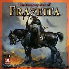 THE FANTASY ART OF FRAZETTA 2018 CALENDAR - FRAZETTA, FRANK - NEW BOOK
