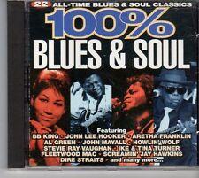(EU627) 100% Blues & Soul, 22 tracks various artists - 1995 CD