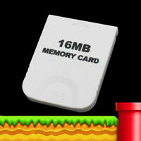 Useful Accessory Memory Card Console White Video Game Gamecube For Nintendo Wii