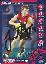 ✺Signed✺ 2013 MELBOURNE DEMONS AFL Card JACK TRENGOVE