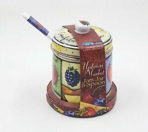 Jo!e de Vivre MSC Uptown Market JAM JAR & SPOON Ceramic NEW IN PACKAGING