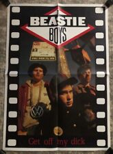 Beastie Boys Original Vintage Poster Get Off My Dick Music Pin-up 1980's Rap