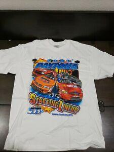 Vintage NASCAR 2001 Daytona 500 Line Up T-Shirt Dale Earnhardt Men's L New