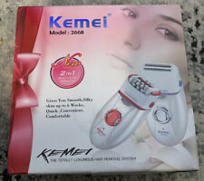 Kemei 2668 2 In 1 Women Electric Epilator Hair Removal Shave