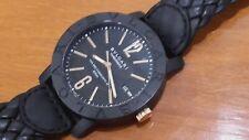 Authentic BVLGARI BULGARI CARBONGOLD Via Dei Condotti 10 ROMA mens wristwatch
