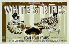 Guy Burwell 2003 White Stripes Keller Auditorium Poster