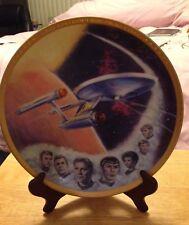 """Star Trek Ernst Hamilton 10 1/4"""" Crew gold signatures Enterprise Plate Exlnt"""