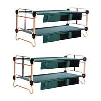 Disc-O-Bed X-Large Cam-O-Bunk Benchable Bunked Double Cot w/ Organizers (2 Pack)