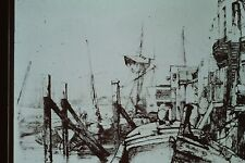 J M WHISTLER- THAMES SET-LIMEHOUSE ETCHING 35MM ART SLIDE