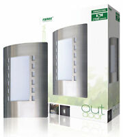 Brushed Steel Entrance Door Outdoor Wall Light 60W Contemporary