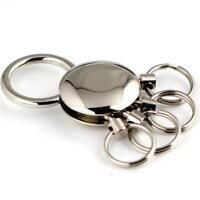 Keyring On Clip Keychain 4 Ring Keyring Holder Key Chain Detachable Keychain