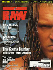 WWF RAW Wrestling Magazine December 1999 Triple H w/Tori Poster WWE