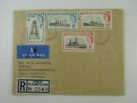 1964 Falkland Islands Registered FDC to South Africa SC #150-53 set Fine