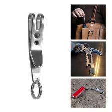 Portable Mini EDC Gear Men Pocket Suspension Clip Hanger Tool Key Ring Keychain