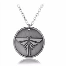The Last of Us Necklace Vintage Silver Firefly Round Pendant Game Jewelry Gift