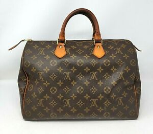 Louis Vuitton Speedy 35 Monogram Canvas Boston Hand Bag Authentic Vintage SP0973