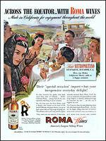 1944 Hotel Metropolitano Ecuador Roma Wines Fresno Lodi vintage art print ad L77