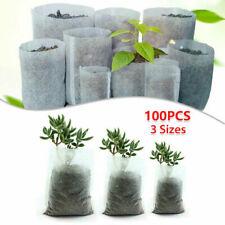 100pcs Biodegradable Bags Plant  Non-woven Nursery Grow Seedling Planting Pots