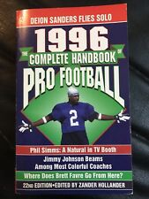 The Complete Handbook Of Pro Football 1996 Edition, Football Books Deon Sanders