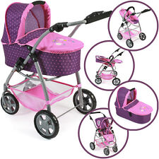 Bayer Chic 2000 Puppenwagen Emotion All In 3 in 1 lila pink Kombi Autositz Buggy