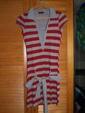 FLG Flashlights Kleid  Sommerkleid Minikleid Gr 32 34 36 38  blau weiß neu #3450