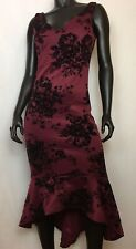 700d007fb1c6 TRIXXI CLOTHING COMPANY WOMEN S FORMAL BURGUNDY WITH VELVET BLACK FLOWERS L  NWT