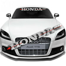 Front Back Windshield Car Sticker For Honda Badge Reflective Auto Glass Decal