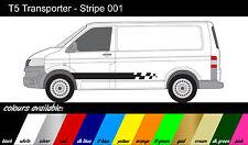 VW Transporteur T4 T5-à rayures côté x2-stickers / autocollants / graphiques ref001lwb