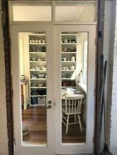 timber french doors with windows