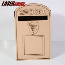 Wedding Post Box, Irish Mail Styled, Flat Pack, Unpainted MDF for Cards etc