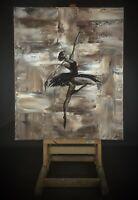 Tableau acrylique sur toile - DANSEUSE -signé  Delpierre Sylvie - 2020 - 60x50cm