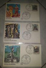 3 buste primo giorno fontane d'Italia del 1976