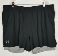 Under Armour Loose Fit Men's Heat Gear Black Shorts Size 3XL - Free Shipping!