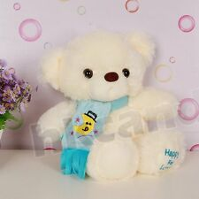 Blue embroidered moon scarf teddy bear 30 CM stuffed toy soft toy plush bear