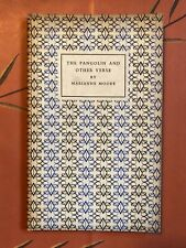 Marianne Moore, The Pangolin and Other Verse. First Edition, Very Good, Rare!