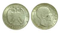 pci2455) Yugoslavia 50 dinari 1938 - Silver